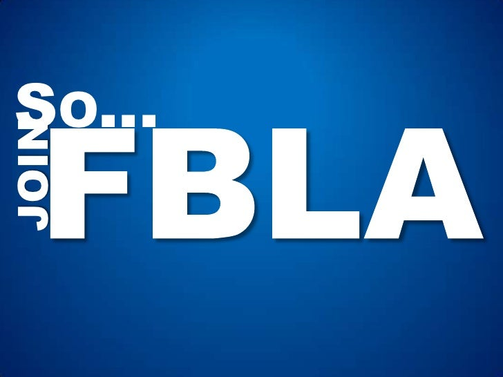 Why You Should Join FBLA-PBL