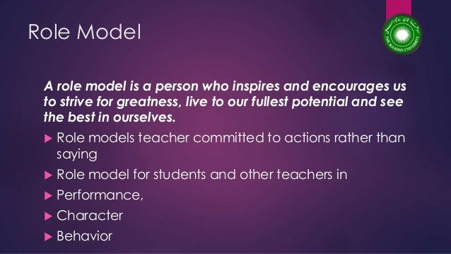 characteristics of a teacher role model