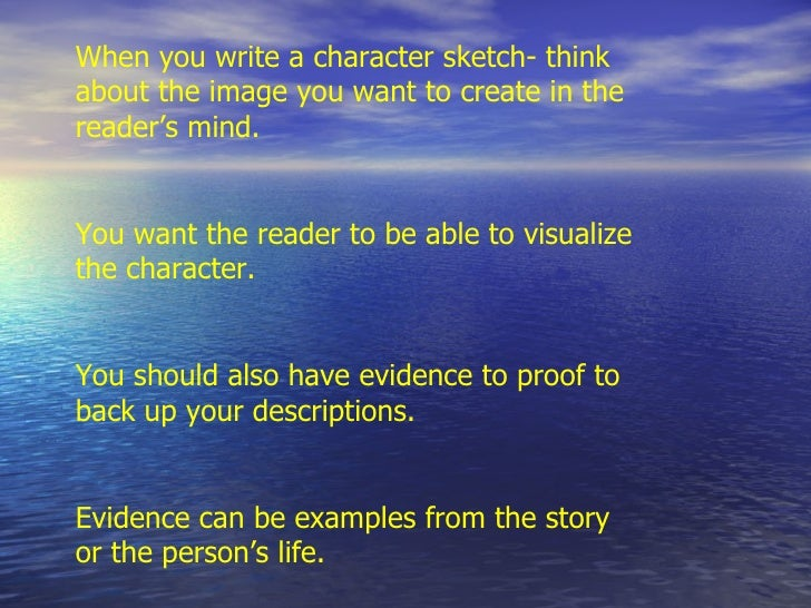 write an analytical essay based on a character