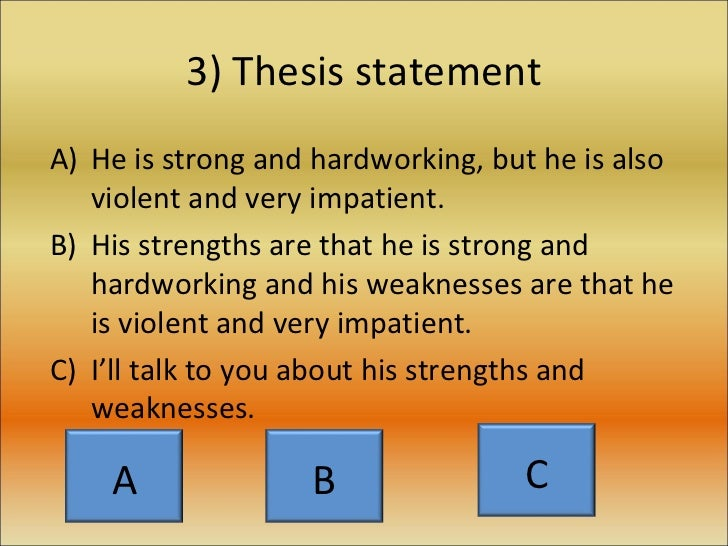 thesis statement character development Order 100% unique and professionally written content for your tasks, including essays, term papers, dissertations and even thesis statement help.