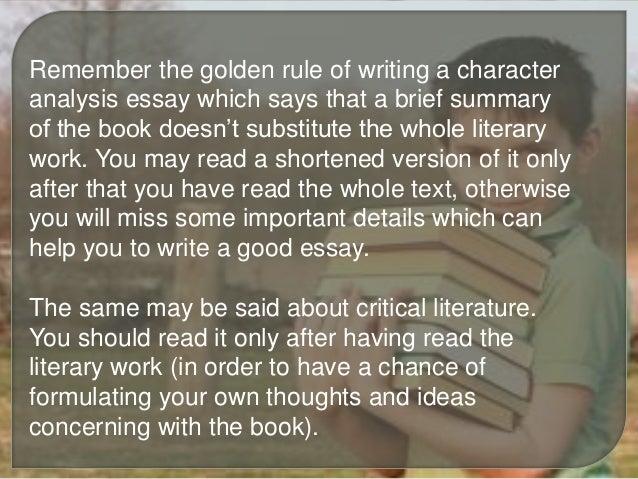 essays characterization