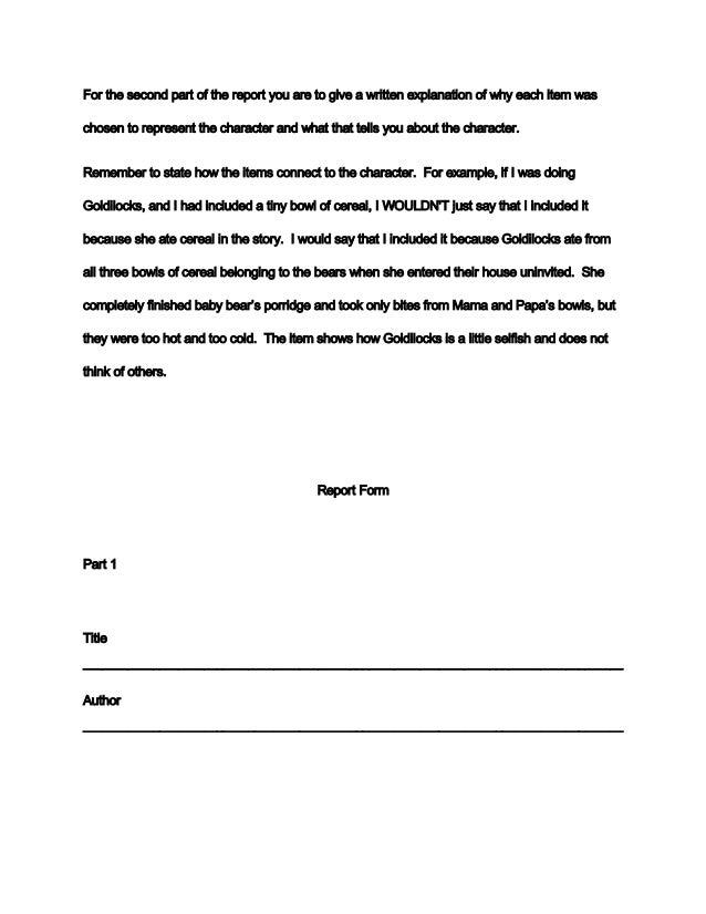 Writing a Book Report - TeacherVision com