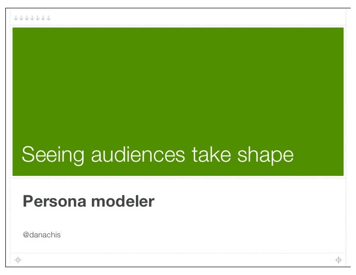 Seeing audiences take shapePersona modeler@danachis