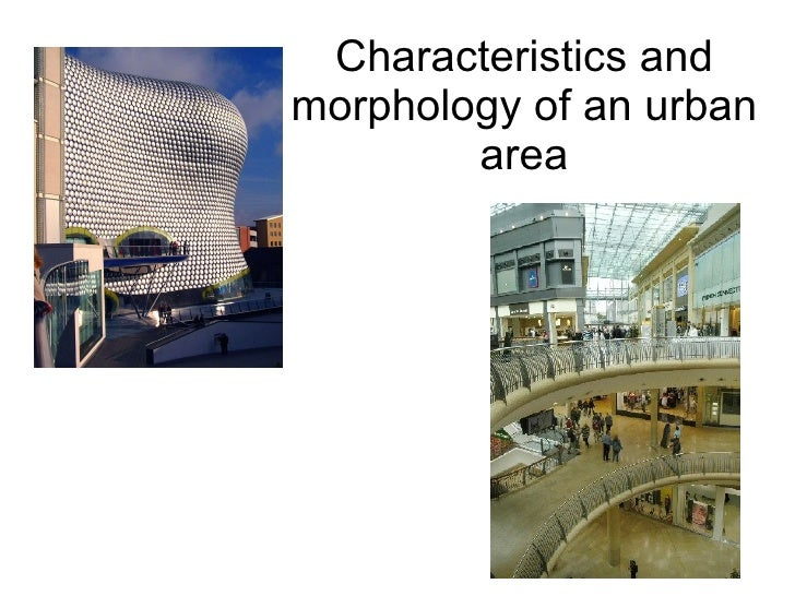 Characteristics And Morphology Of An Urban Area