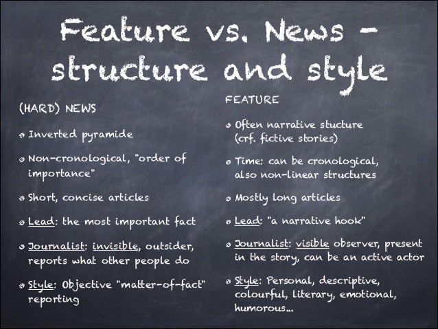 how to write a feature news story