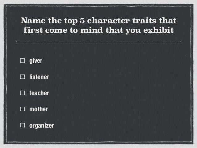 Spiritual Character Traits The Top 5 Character Traits