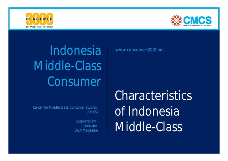 Characteristics of Indonesia Middle-Class Consumer - The 8 Faces