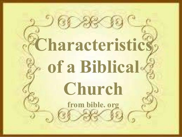 Characteristics of a Biblical Church