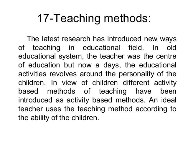 the characteristics of an ideal system of education Technical education database system in teams to develop characteristics of highly effective teaching and learning as common characteristics.