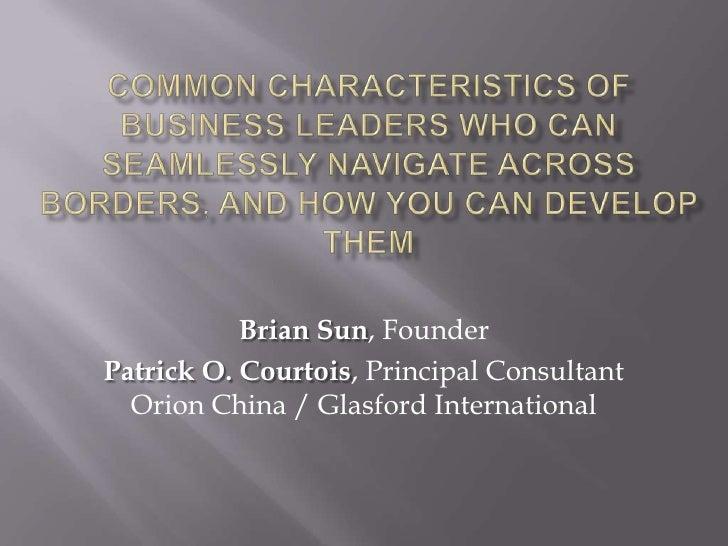 Characteristics Of Cross Border Leaders