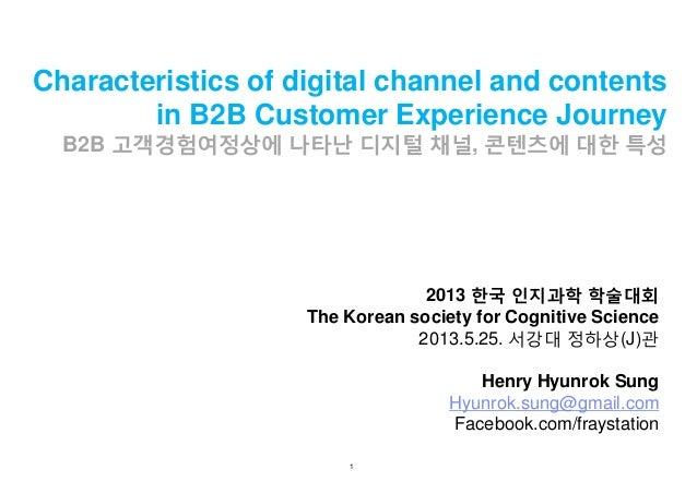 Characteristics of digital channel and contents in B2B Customer Experience Journey  B2B 고객경험여정상에 나타난 디지털 채널, 콘텐츠에 대한 특성  2...