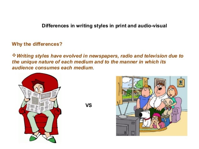 comparing writing styles The difference between formal and informal writing is the difference in style, tone, and syntax.