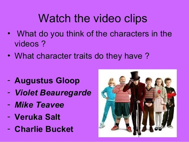 Character Trait Powerpoint What Character Traits do They
