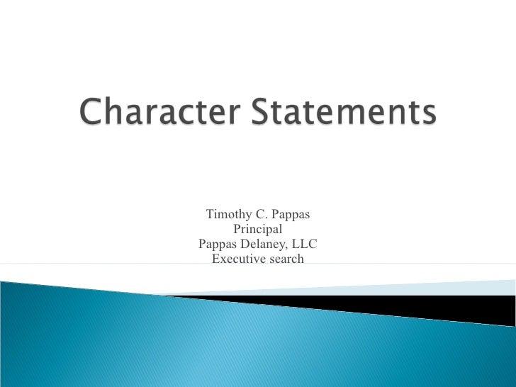 Timothy C. Pappas Principal Pappas Delaney, LLC Executive search