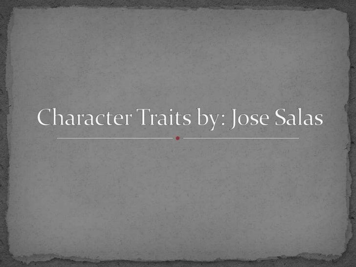 Character traits slide show