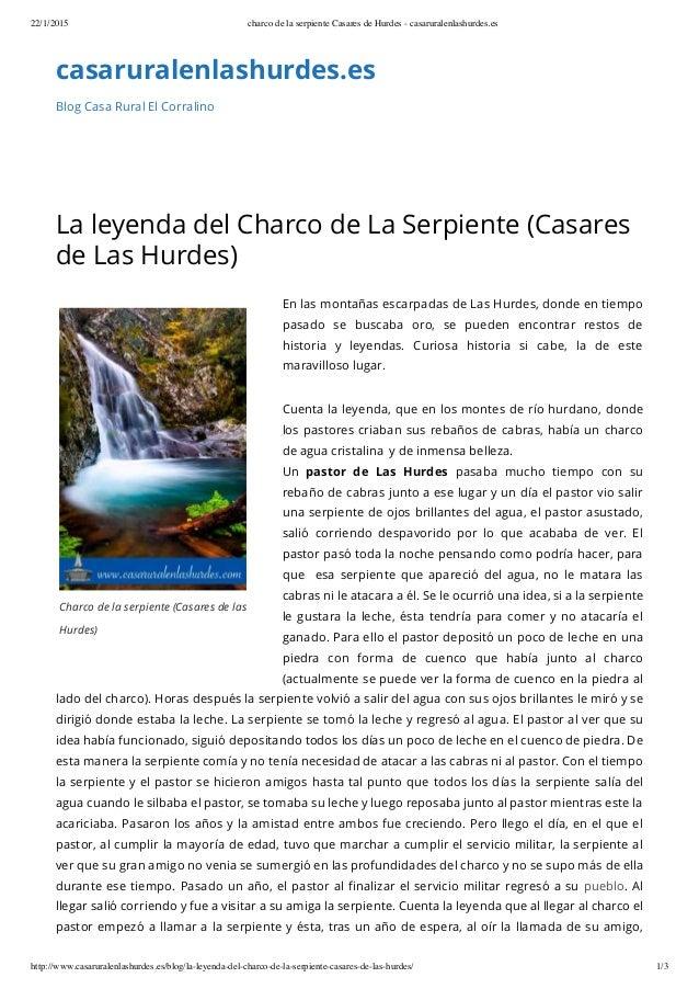 22/1/2015 charco de la serpiente Casares de Hurdes - casaruralenlashurdes.es http://www.casaruralenlashurdes.es/blog/la-le...