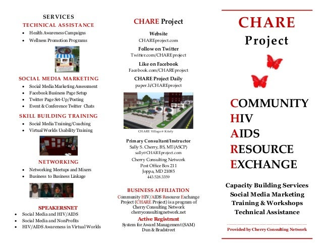 CHARE Project COMMUNITY HIV AIDS RESOURCE EXCHANGE Capacity Building Services Social Media Marketing Training & Workshops ...