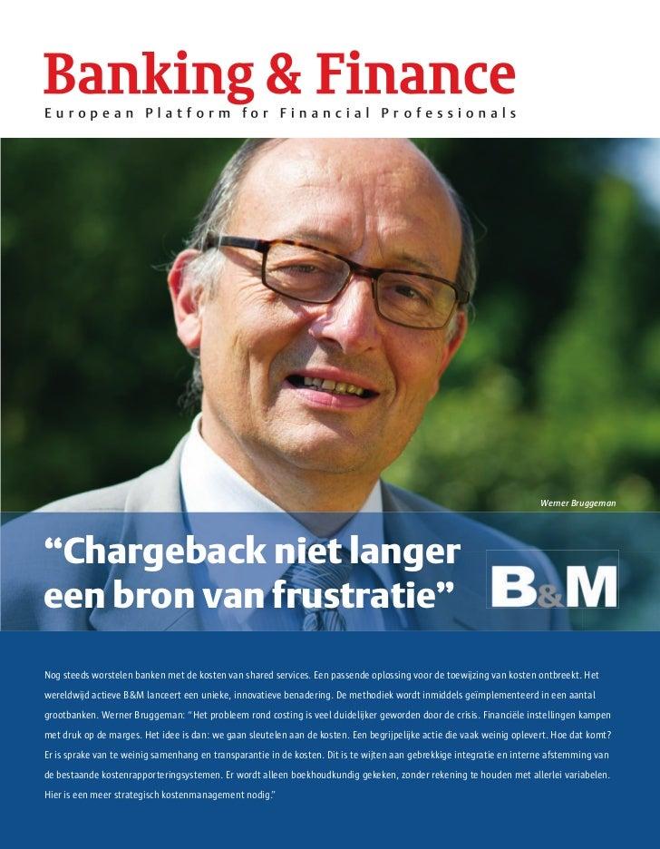 """Werner Bruggeman""""Chargeback niet langereen bron van frustratie""""NogApril, G4S Cash Solutions (part de the largest security ..."""