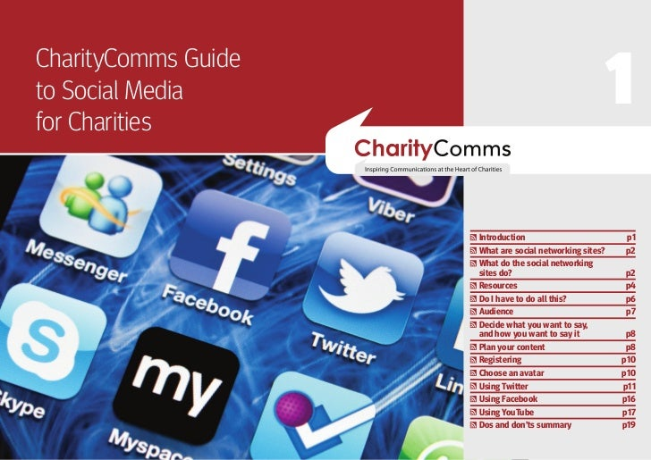 1CharityComms Guideto Social Mediafor Charities                     Introduction                        p1                ...