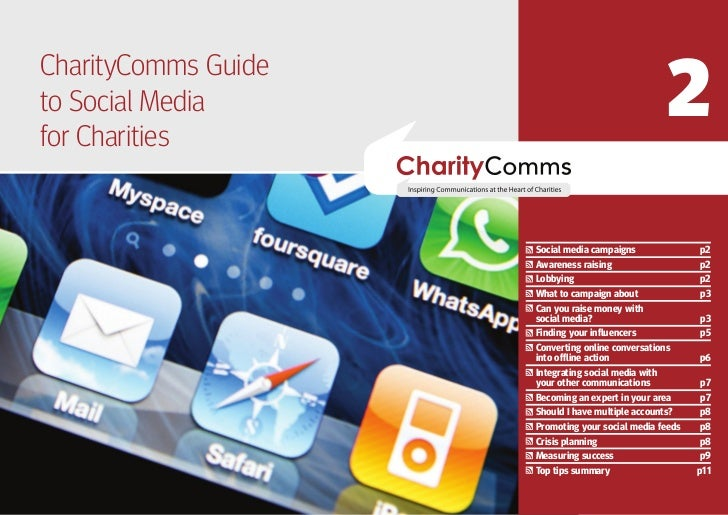 2CharityComms GuidetoPART TWO Media   Social  NEXT STEPSfor Charities                     Social media campaigns          ...