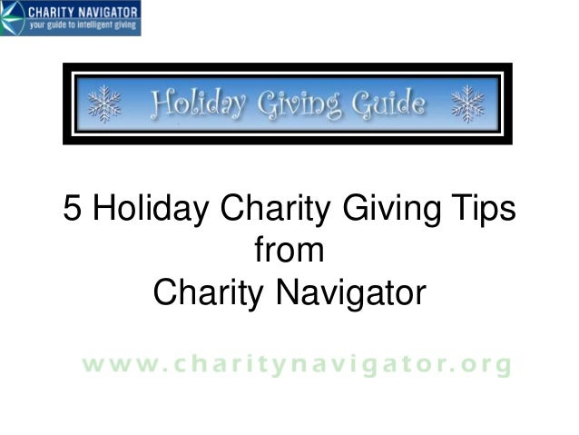 5 Holiday Charity Giving Tips