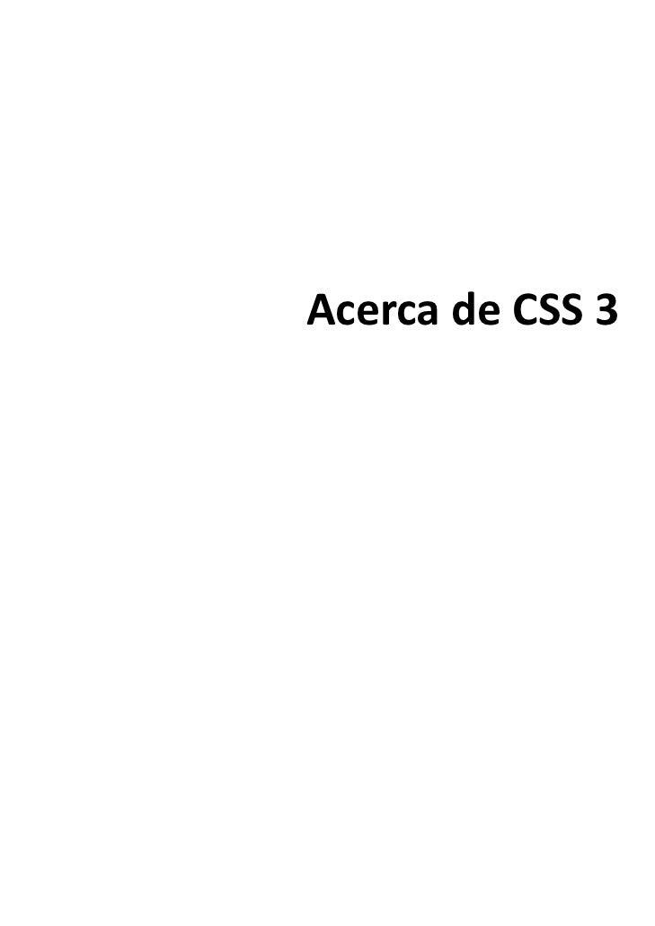 Tanta Comunicación: Acerca de CSS3