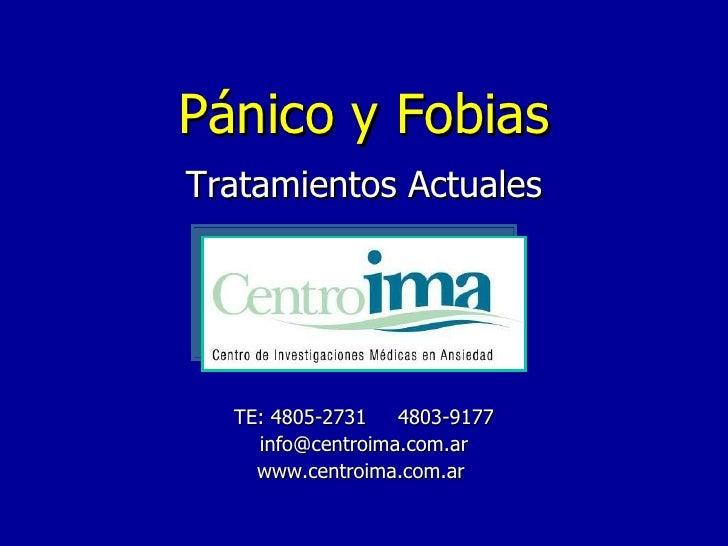 Panico y Fobias: Tratamientos actuales