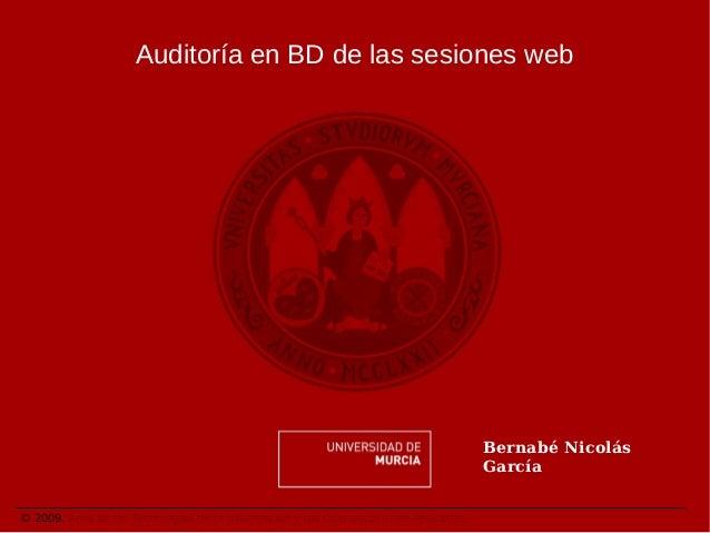 Auditoría en BD de las sesiones web                                                                                    Ber...