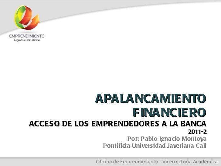 Conferencia Apalancamiento financiero