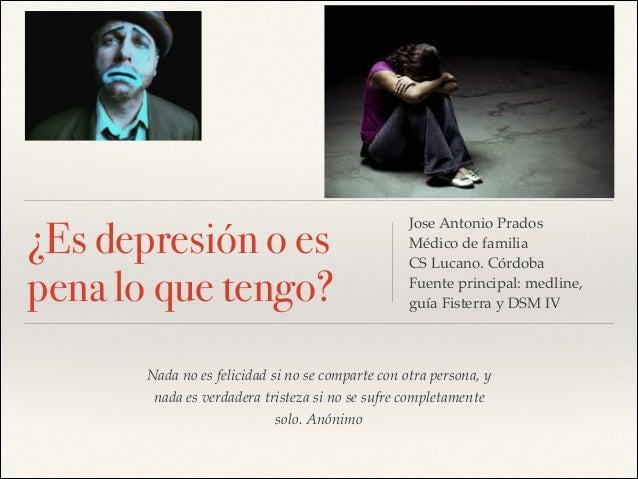 """Charla """"depresión o pena"""" para persona mayores"""