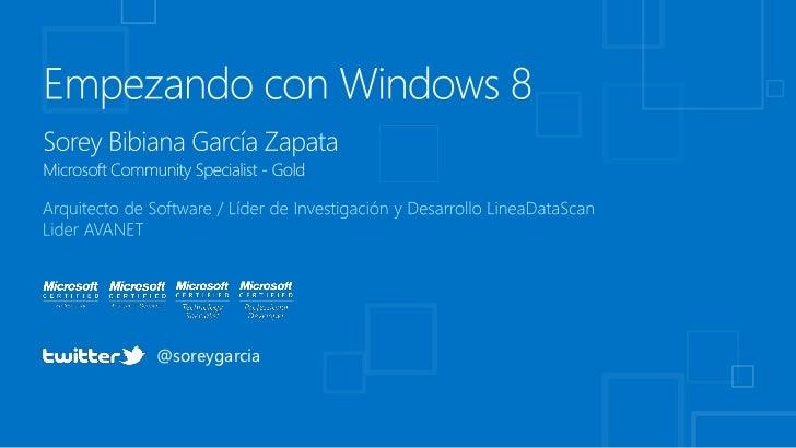 Windows 8: Microsoft TechDay (Medellín)