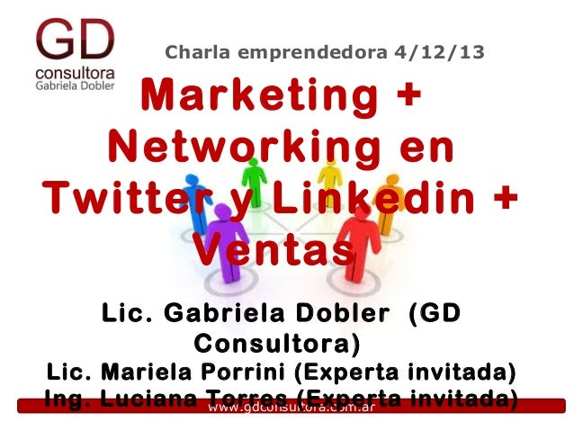 Charla emprendedora gratuita de GD Consultora: Marketing + Networking + Ventas