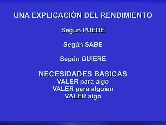 UNA EXPLICACIÓN DEL RENDIMIENTO                           Según PUEDE                            Según SABE               ...