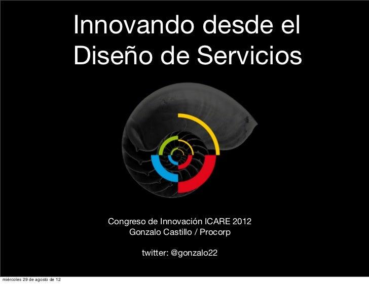 Diseño de Servicios. Charla icare 2012