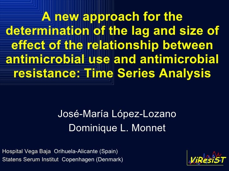 A new approach for the determination of the lag and size of effect of the relationship between antimicrobial use and antim...