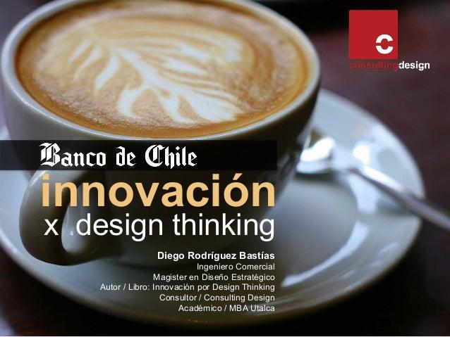 innovación x design thinking Diego Rodríguez Bastías Ingeniero Comercial Magister en Diseño Estratégico Autor / Libro: Inn...