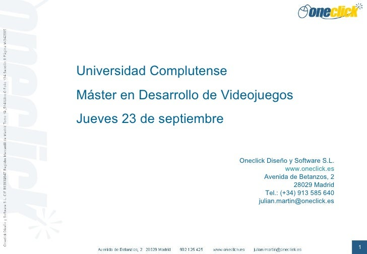 Charla en Master Videojuegos Universidad Complutense