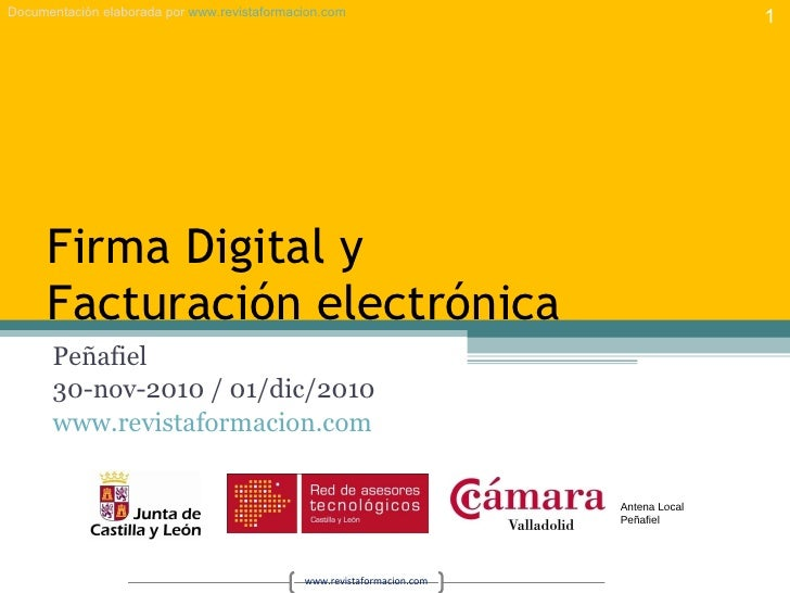 Firma y factura electrónica