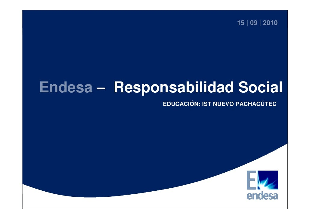 Charla Magistral Endesa Set2010 - Proyecto IST Pachacútec