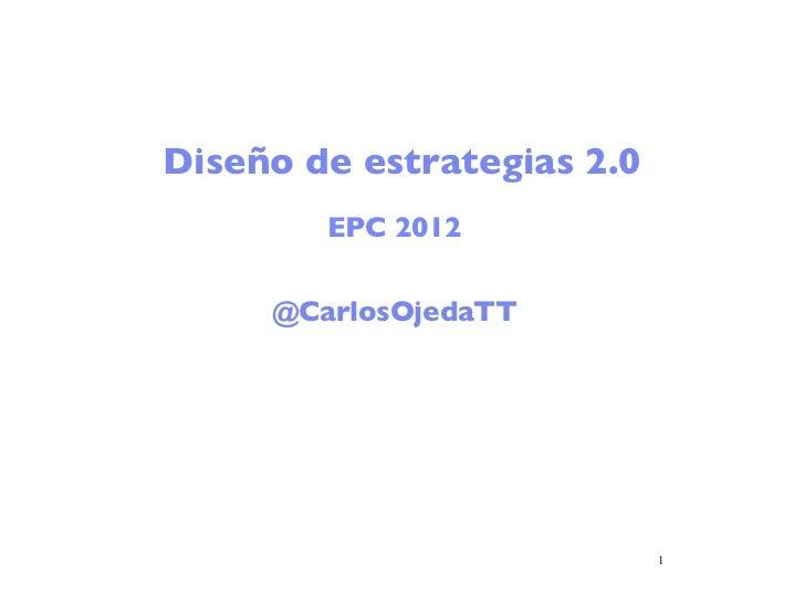 Diseño de estrategias 2.0        EPC 2012     @CarlosOjedaTT                            1