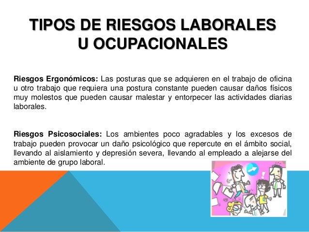 Riesgos laborales u ocupacionales for Riesgos laborales en una oficina