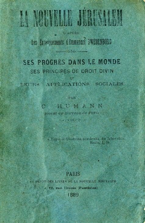Charles humann-la-nouvelle-jerusalem-d'apres-les-enseignements-d'emmanuel-swedenborg-paris-1889