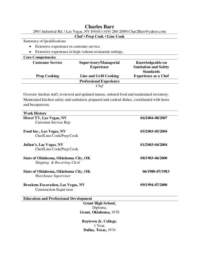 sample resume of a cook unthinkable cook resume skills 1 resume