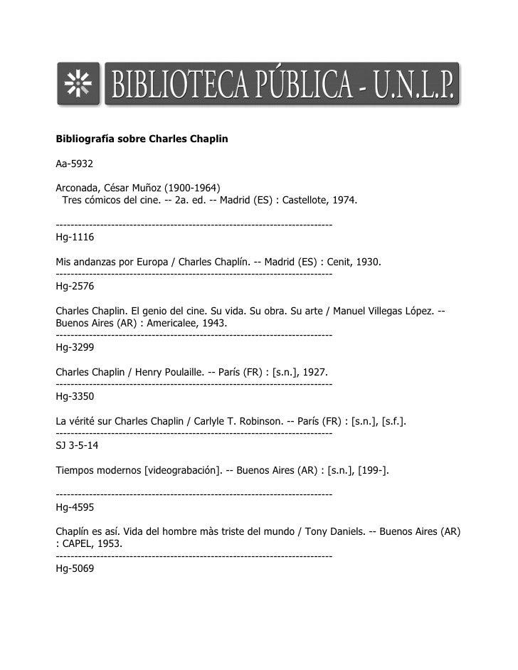 Bibliografía sobre Charles Chaplin  Aa-5932  Arconada, César Muñoz (1900-1964)  Tres cómicos del cine. -- 2a. ed. -- Madri...