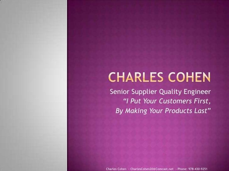 Charles cohen resume1