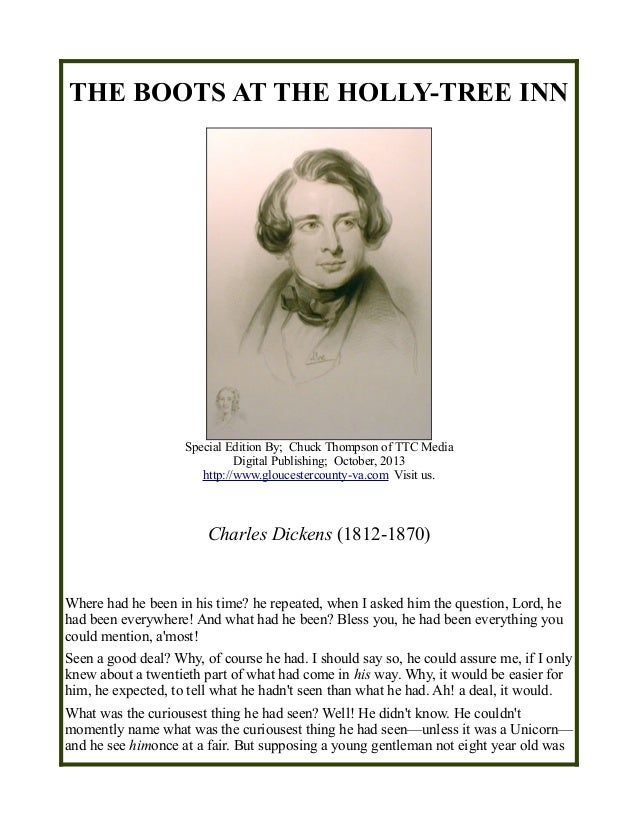 Charles Dickens - The Boots at the Holly Tree Inn