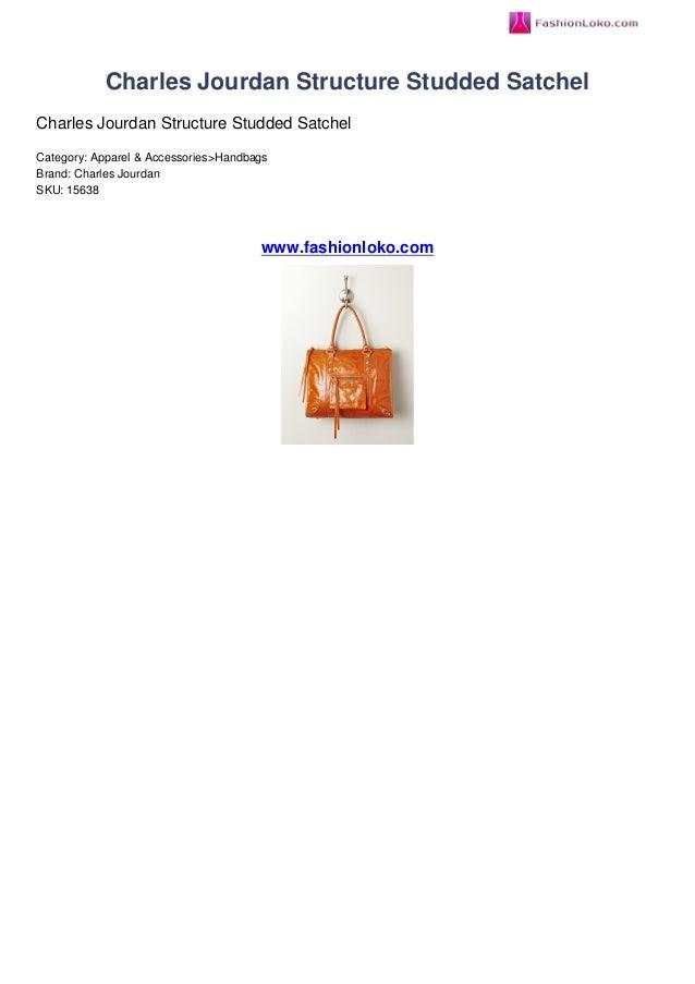 Charles Jourdan Structure Studded SatchelCharles Jourdan Structure Studded SatchelCategory: Apparel & Accessories>Handbags...