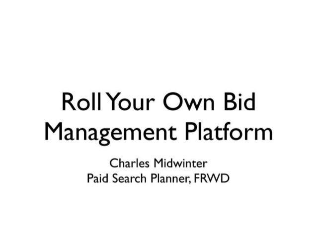 Charles midwinter   bidding strategy