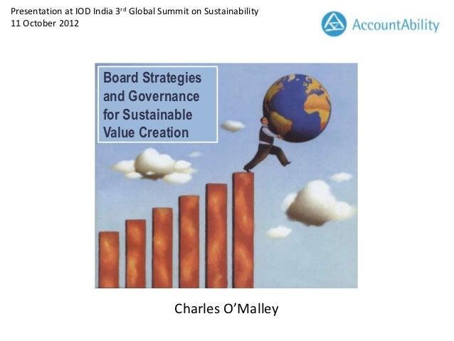 Charles O'Malley presentation IOD India 12 October 2012