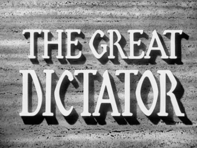 charlie chaplin the great dictator essay One of the few good things to come out of this l'affaire interview has been a renewed interest among both the media and viewers in charlie chaplin's 1940 classic, the great dictator with some reason: if the interview offers a cautionary tale in what happens when you satirize existing world tyrants, the.